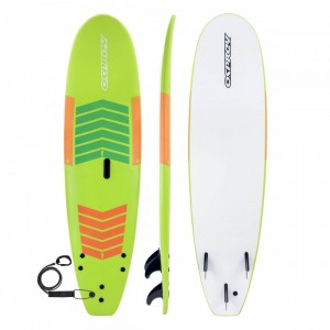 LEARN TO SURF 7FT 2IN FOAM SURFBOARD - GREEN