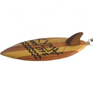 Wooden Surfboard Keychain 6cm