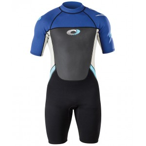Mens Origin 3/2mm Wetsuit Shorty - Blue & White
