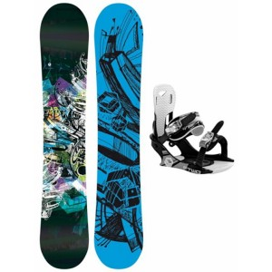 Snowboard F2 Air + F2 Pipe Bindings