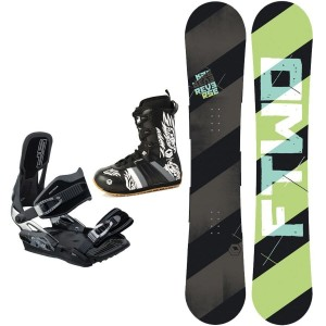 FTWO SNOWBOARD TNT WHITE + FTWO SONIC BINDUNG + BOOTS